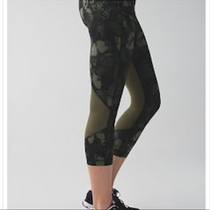 Lululemon Biggie So Fly Fatigue Butterfly Pace Rival Crops